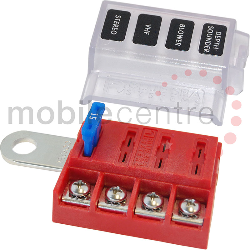 blue sea st 5023 battery terminal mount four way fuse