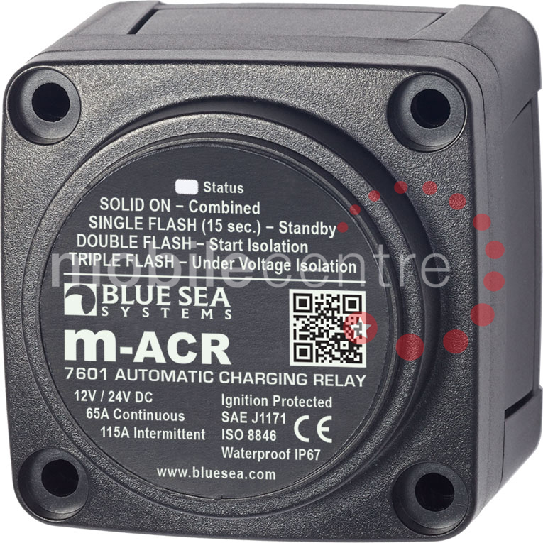 Blue Sea 7601 Automatic voltage sensing ACR split charging relay 12