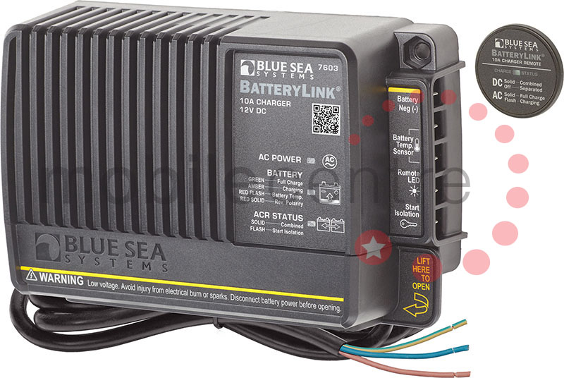 blue sea 7603 vsr 65a relay 12v dc with integrated 10a 90 - 265v ac charger  - mobile centre