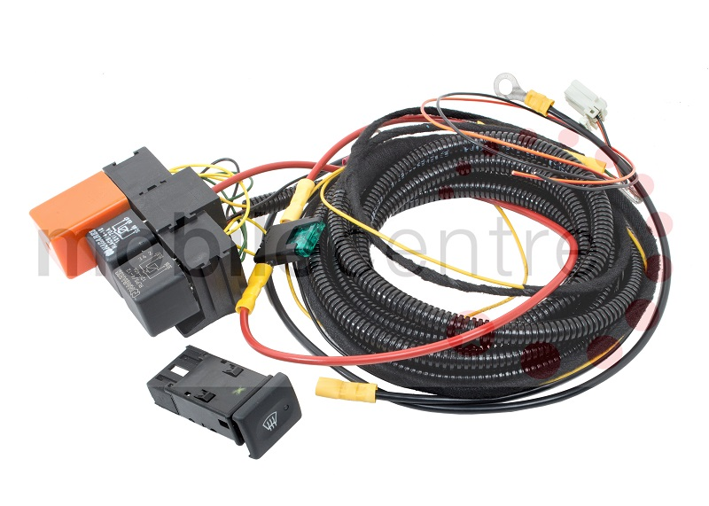 Land Rover Defender Heated front windscreen wiring kit with OEM