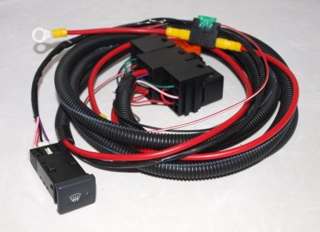 land rover defender heated front screen wiring kit complete with oem rh mobilecentre co uk land rover defender heated windscreen wiring diagram land rover defender heated windscreen wiring