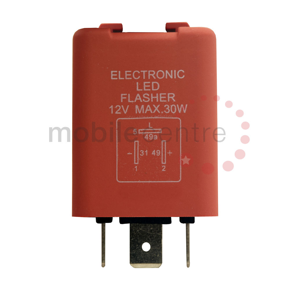 Led Indicator Flasher Relay 12 Volt 3 Pin 30w Jso Layout Mobile Centre Terminal